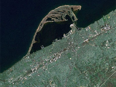 Satellite View of Erie PA